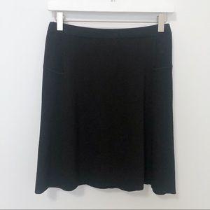 Ann Taylor LOFT Knit A-Line Stretch Raw Hem Skirt